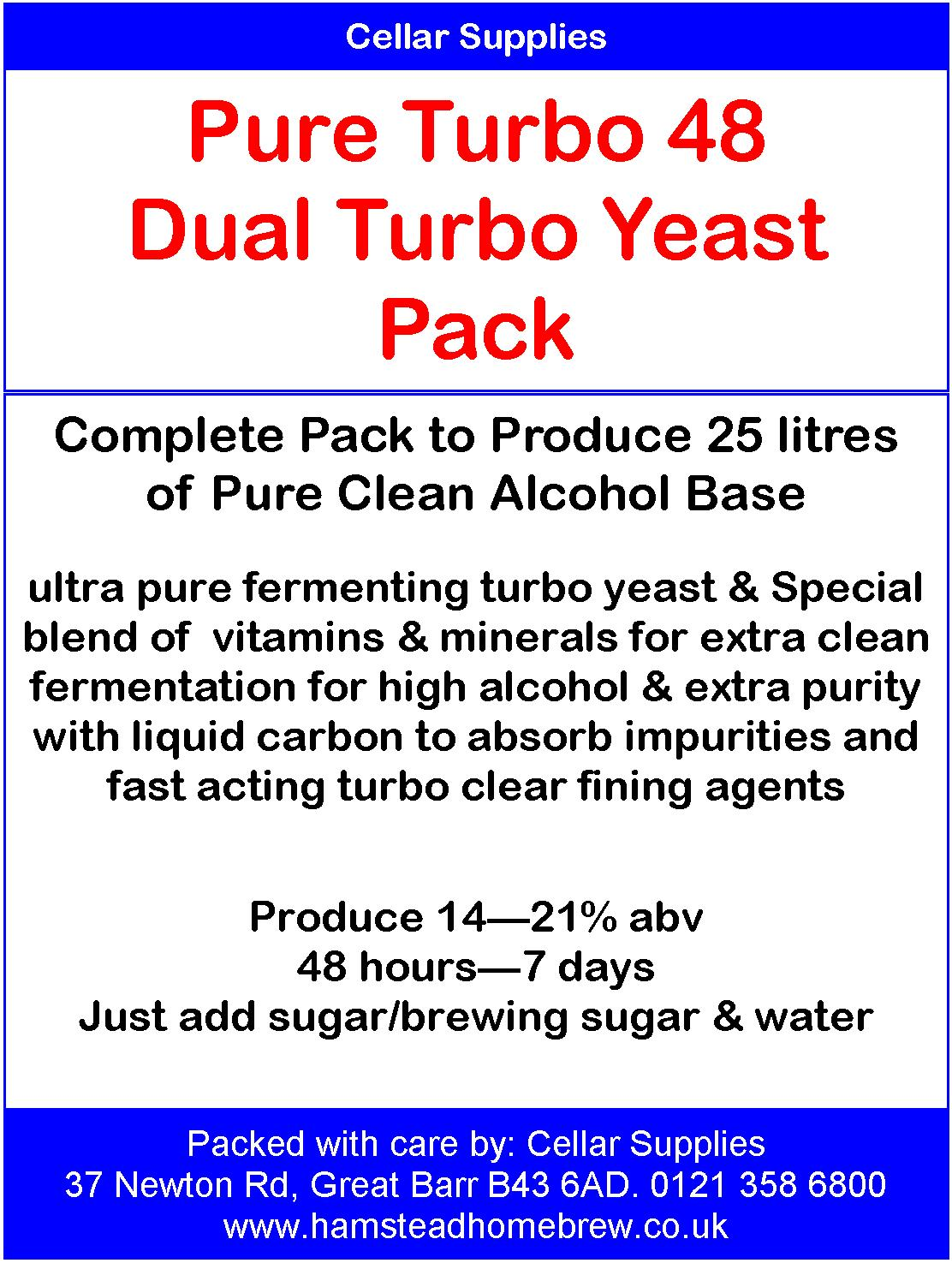 High Alcohol Yeast Packs